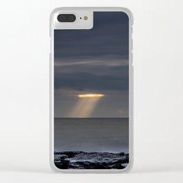 Cutting Storm Clouds Clear iPhone Case