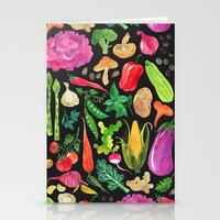 oana befort Stationery Cards featuring VEGGIES in black by Oana Befort