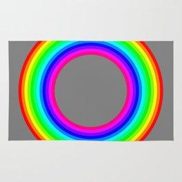 12 color rainbow donut Rug