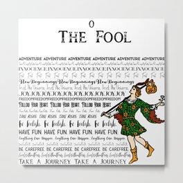 The Fool - A Tarot Design Metal Print