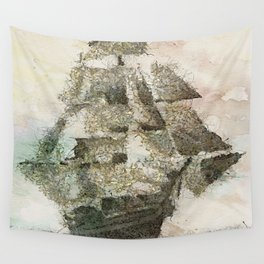 Mary Celeste - a ghost ship Wall Tapestry