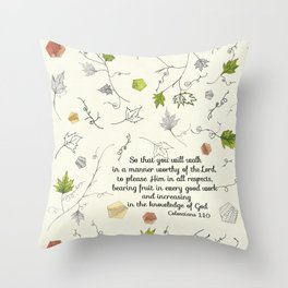 Colossians 1:10 Throw Pillow