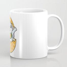 Baby rabbit with Pacifier Bib and Egg Coffee Mug