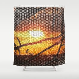 Sunset Geometry | Ferntree Gully Shower Curtain