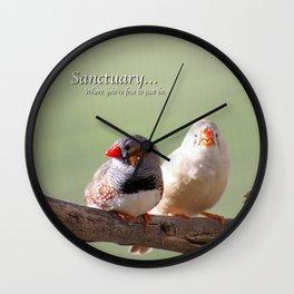 Finches @ Happy Hooves Farm Sanctuary Wall Clock
