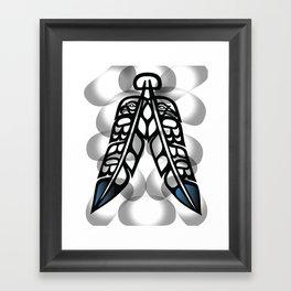 Heiltsuk Eagle & Raven Feathers Framed Art Print