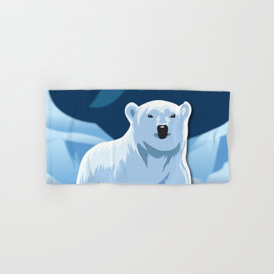 Lonely Polar Bear Hand & Bath Towel