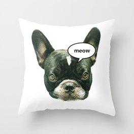 What does the dog say? Throw Pillow