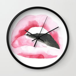 Sophie Lips Wall Clock