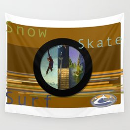 Skate Snow Surfer Wall Tapestry