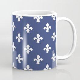 Blueberry Southern Cottage Fleur de Lys Coffee Mug