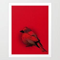 Little Red Bird Art Print