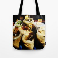spice girls Tote Bags featuring Spice by Madison Webb