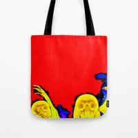 hell Tote Bags featuring Hell by Alec Goss