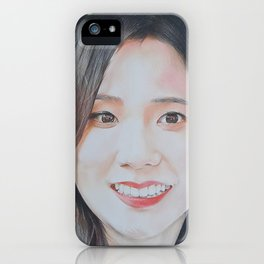 Black Pink Jisoo iPhone Case