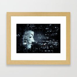 hacker background Framed Art Print