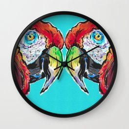 Parrot Macaw Ca-caw Wall Clock
