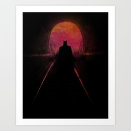 Bat-man: The dark hero Art Print