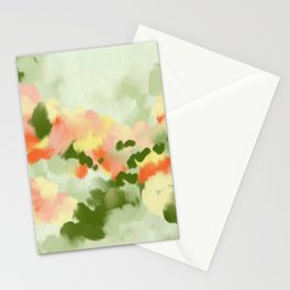 Abstract painting Summer Vibes Stationery Cards