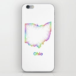 Rainbow Ohio map iPhone Skin