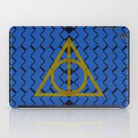 ravenclaw iPad Cases featuring The Deathly Hallows Ravenclaw by cinefuck