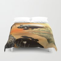 led zeppelin Duvet Covers featuring Zeppelin by nicky2342