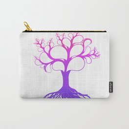 Perfect Purple Pink Tree Carry-All Pouch
