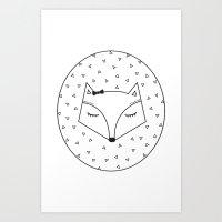 fox head card Art Print