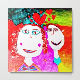 LOVE iN CHiLDHOOD Metal Print