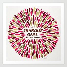 Snapchat – Red & Gold Art Print