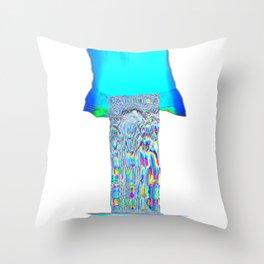Indigo blast Throw Pillow