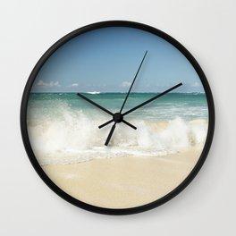 beach love shoreline serenity Wall Clock