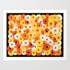 Covered in Gerberas Art Print