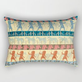 Egyptian Unicorn Pattern Rectangular Pillow