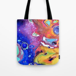 Wild and Crazy Art Flow Tote Bag