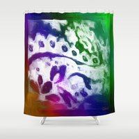 lace Shower Curtains featuring Lace by Geni