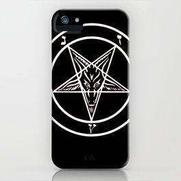 Ave Satanas (White) iPhone Case