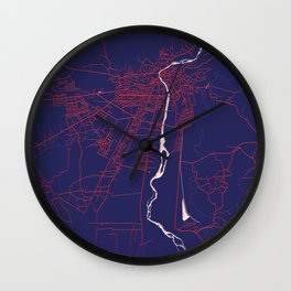 Kutaisi, Georgia, Blue, White, City, Map Wall Clock
