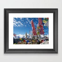 Tsergo Ri flags 1 Framed Art Print