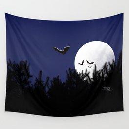 Bats in the Moonlight Wall Tapestry