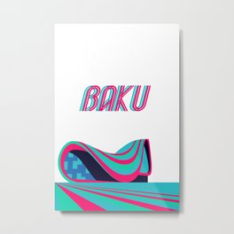 Baku - Capital of Azerbaijan Metal Print