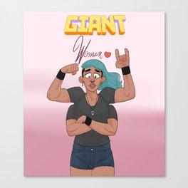 A Giant Woman Canvas Print