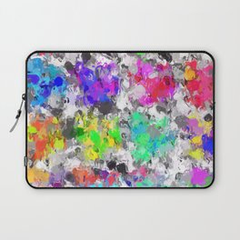 colorful psychedelic splash painting abstract texture in pink blue purple green yellow red orange Laptop Sleeve