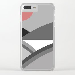 Fields & Hills - Gray Clear iPhone Case