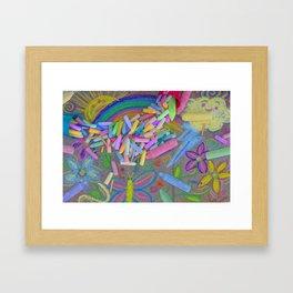 Sidewalk Chalk Framed Art Print
