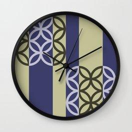 Striped Circles Pattern Wall Clock