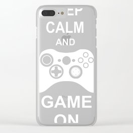 Keep Calm And Game On Clear iPhone Case