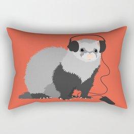Music Loving Ferret Rectangular Pillow