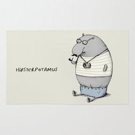 Hipsterpotamus Rug