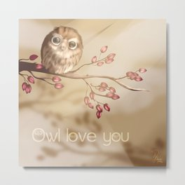 Owl love you Metal Print